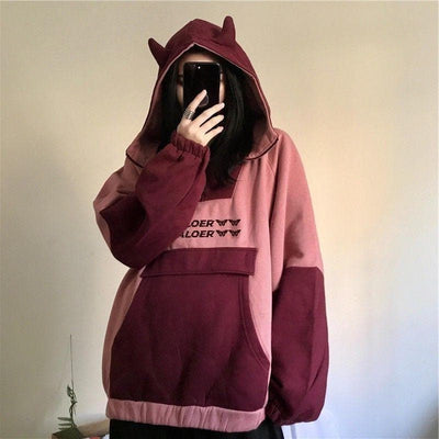 Oversized Hoodie/Windbreaker with Ears - authentic Asian fashion from Korea, Japan and China.
