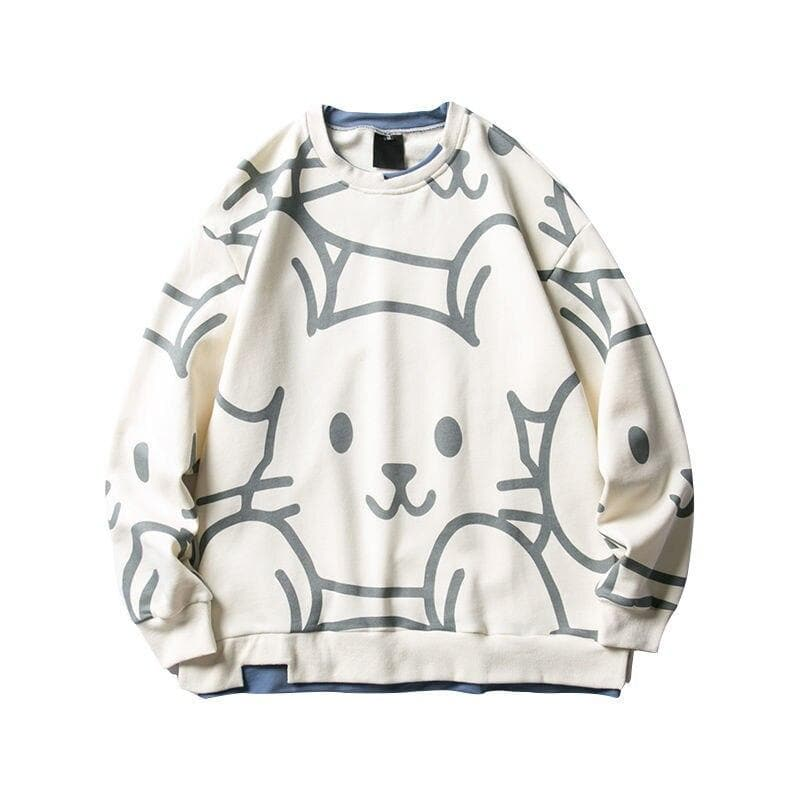 Mouse Print Sweater - authentic Asian fashion from Korea, Japan and China.