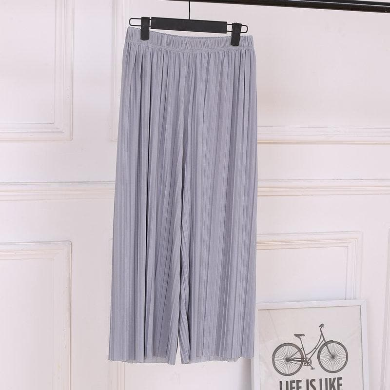 High Waist Chiffon Pants - authentic Asian fashion from Korea, Japan and China.