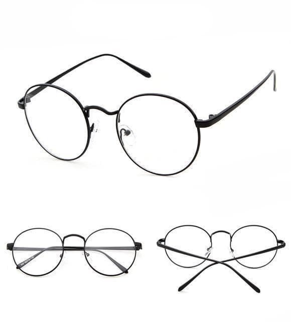 K-FASHION ♥ Oval Mirror Glasses - K-Pop Merch Lianox