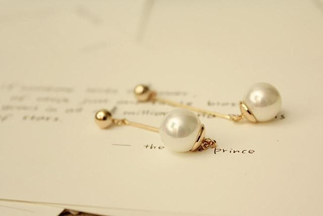 K-FASHION ♥ Long Pearl Earrings - K-Pop Merch Lianox