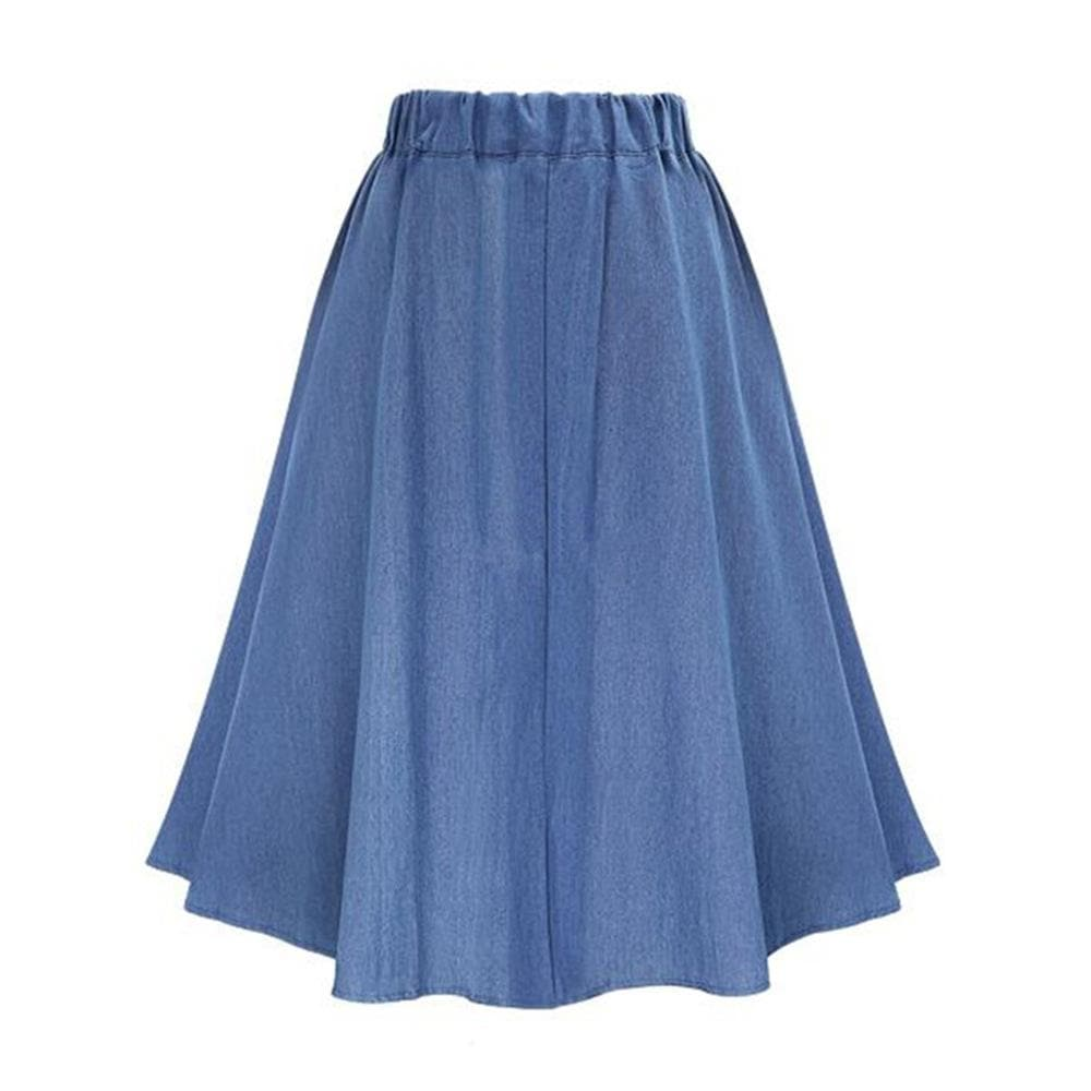 Denim High Waist Skirt - authentic Asian fashion from Korea, Japan and China.