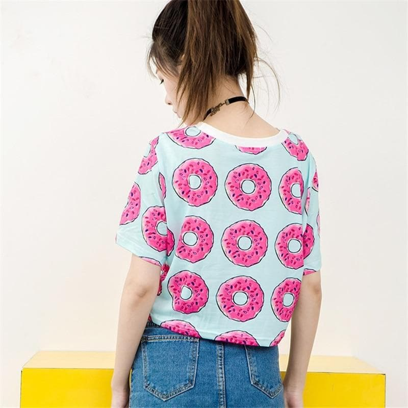 """DONUT TOUCH MY PHONE!"" Crop Shirt - authentic Asian fashion from Korea, Japan and China."
