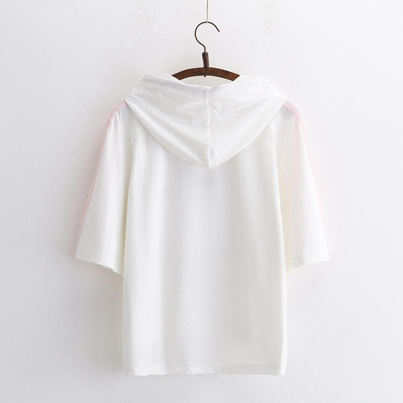 HEY!! Hoodie with Half Sleeves - authentic Asian fashion from Korea, Japan and China.