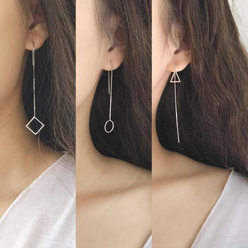 K-FASHION ♥ Long Dangle Earrings - K-Pop Merch Lianox