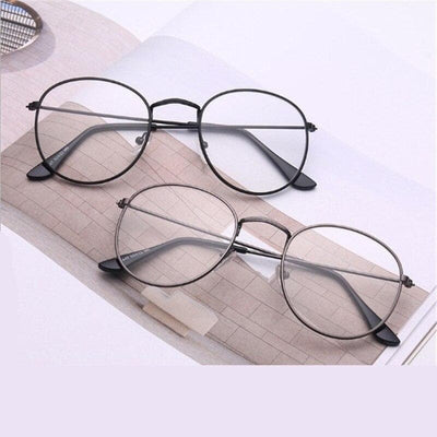Oval Frame Glasses - authentic Asian fashion from Korea, Japan and China.