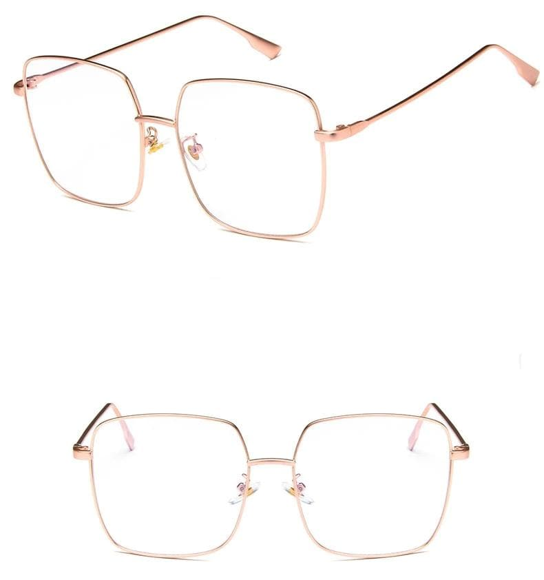 K-FASHION ♥ Rectangle Retro Glasses - K-Pop Merch Lianox