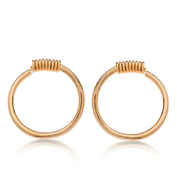 Toby A - Gold Earrings