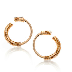 TOBY C GOLD EARRINGS