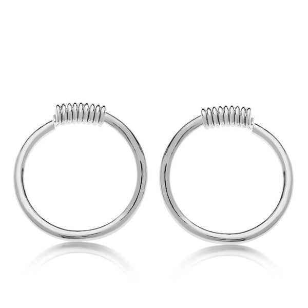 Toby A - Silver Earrings