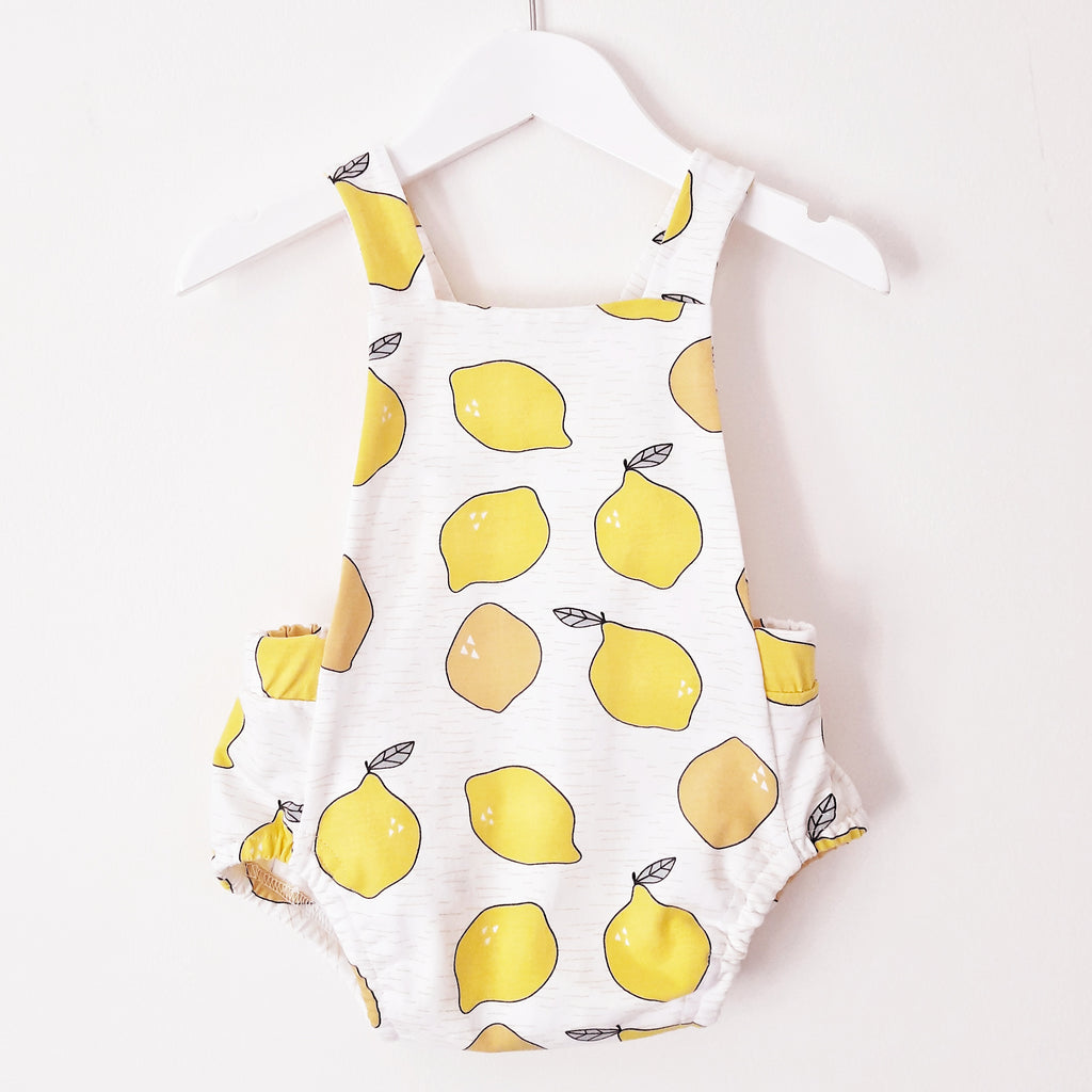 Pinafore romper 'Juicy Lemons' - HEY BB