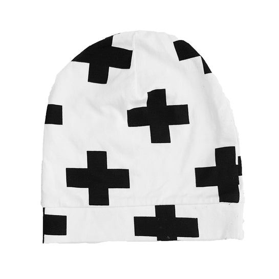 Beanie mutsje 'Swiss Cross' - HEY BB