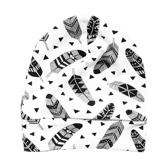 Beanie mutsje 'Geometric Feathers' - HEY BB