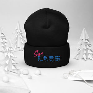 Sac Labs Embroidered Cuffed Beanie