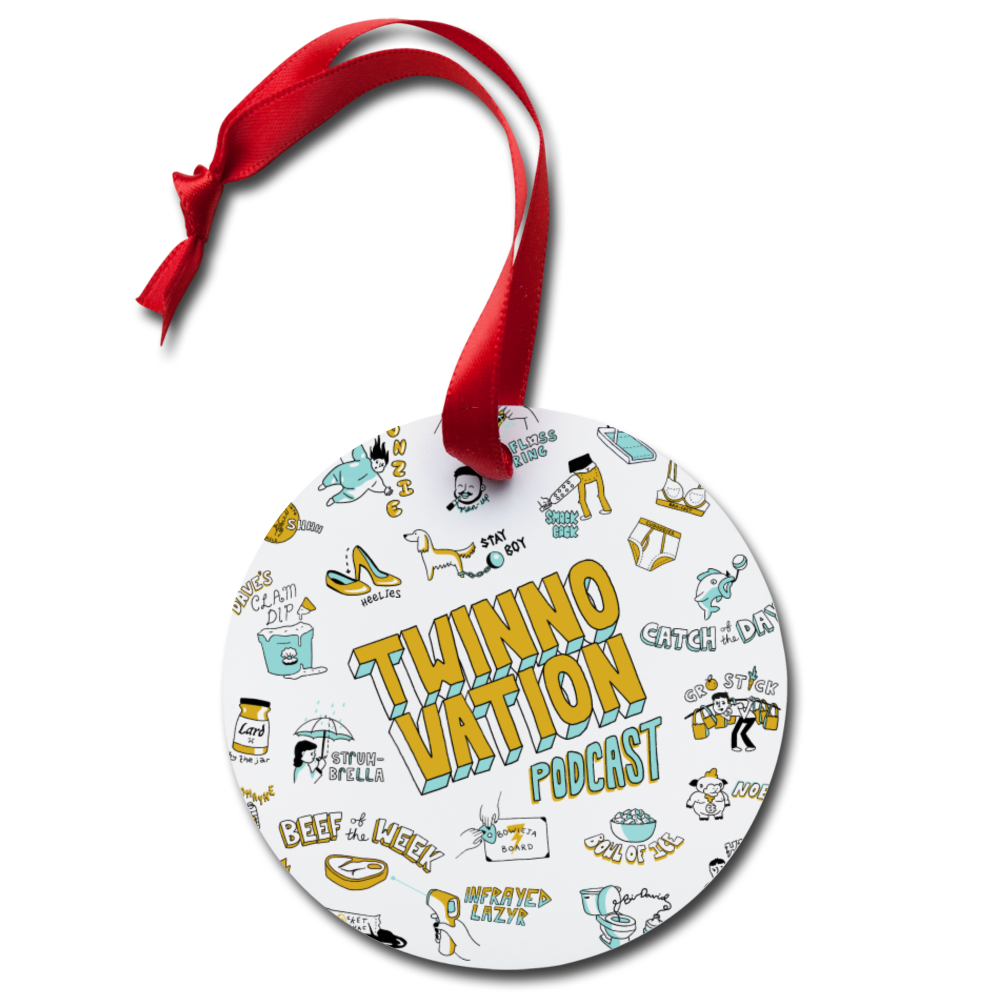 Twinnovation Holiday Ornament - white