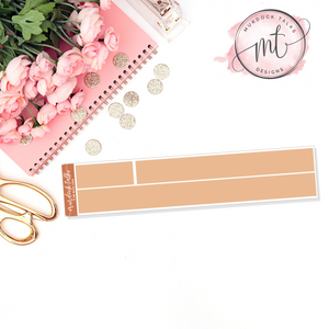 Terracotta 15mm Washi Strip