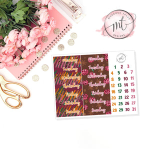 Autumn Date Covers