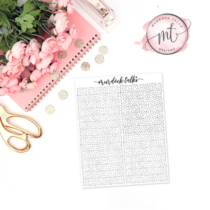 Subtle Speckled FOIL || Header Overlay