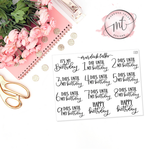 Birthday Countdown || FOIL