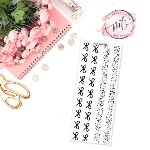 Bow Washi Foil Overlay || $2 Tuesday