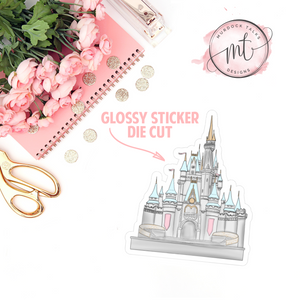 Main Street Magic Castle || Glossy Sticker Die Cut