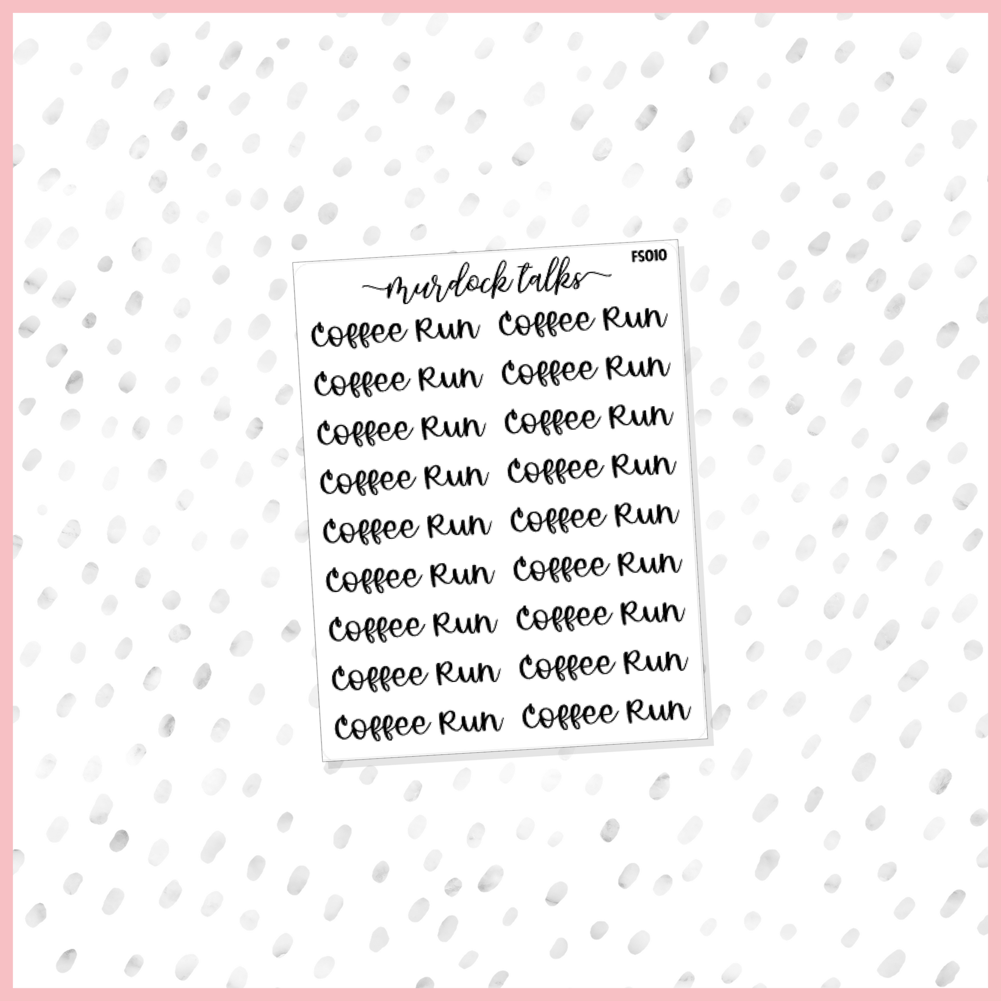Coffee Run Script || FOIL