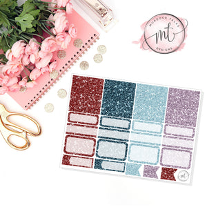 Coffee Shop Glitter Sampler