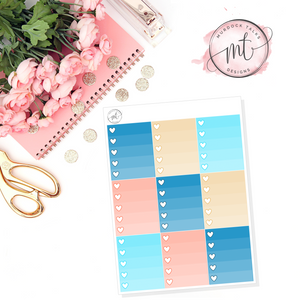 Cruising Ombre Heart Checklists || Vertical