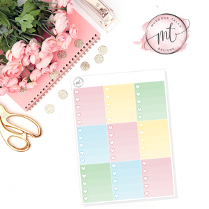 Deck the Halls Ombre Heart Checklists || Vertical