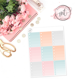 Egg Hunt Ombre Heart Checklists || Vertical