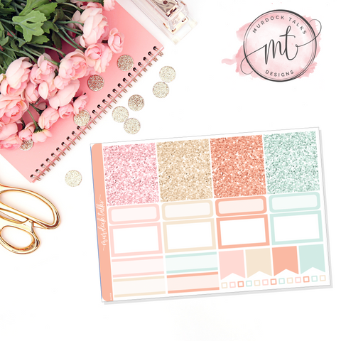 Pastel Fall Glitter Header Add On