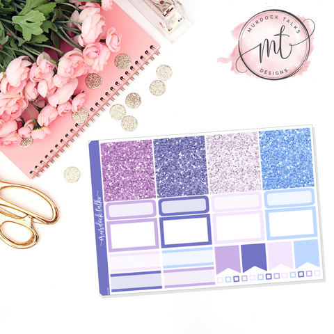 Lavender Dreams Glitter Header Add On