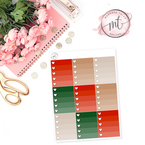 Holiday Cheer Ombre Heart Checklists || Vertical