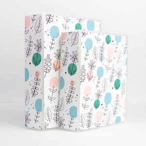 Minimalist Floral Sticker Storage Album