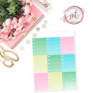 Lucky Ombre Heart Checklists || Vertical