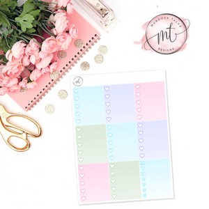 Main Street Magic Ombre Heart Checklists || Vertical