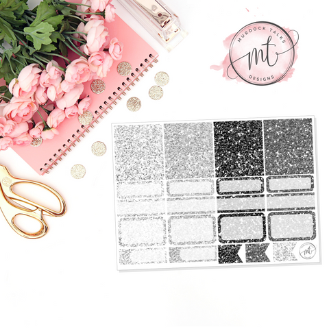 Monochrome Home Glitter Sampler