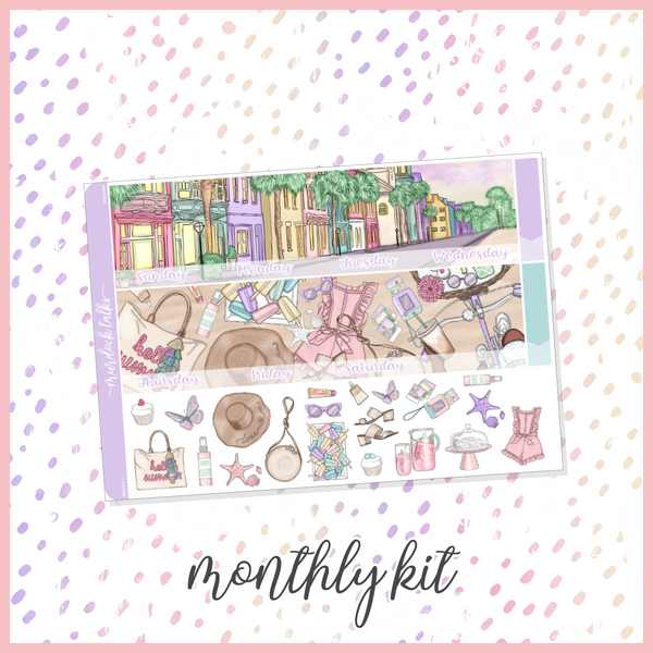 Beach Day || A5W Monthly Kit