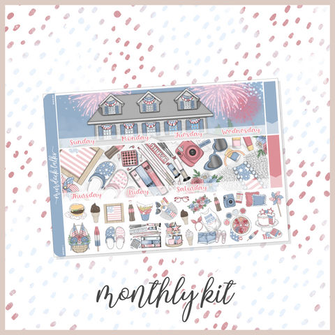 Red, White & Boom || A5W Monthly Kit