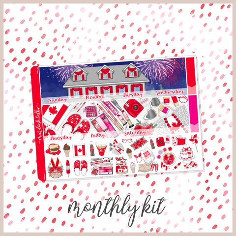 Canada Day || A5W Monthly Kit