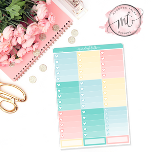 Egg Hunt Ombre Heart Checklists