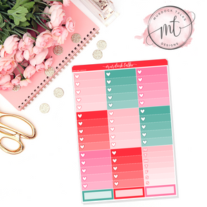 Lover Ombre Heart Checklists