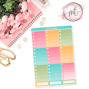 Vacay Ombre Heart Checklists