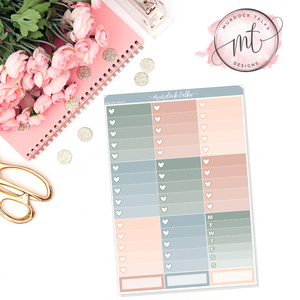 Inspire Ombre Heart Checklists