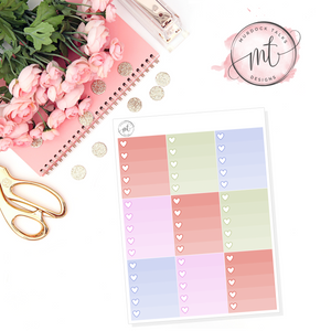 Pages Ombre Heart Checklists || Vertical