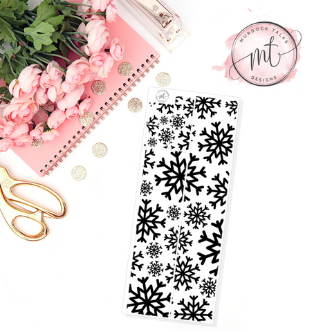 Snowflake FOIL Washi Overlay || Transparent