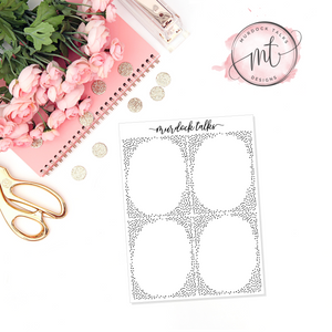 Subtle Dot FOIL || Full Box Overlay