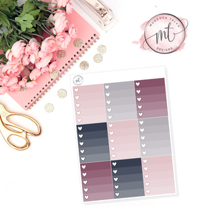 Victoria Ombre Heart Checklists || Vertical