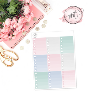 Winter Wishes Ombre Heart Checklists || Vertical