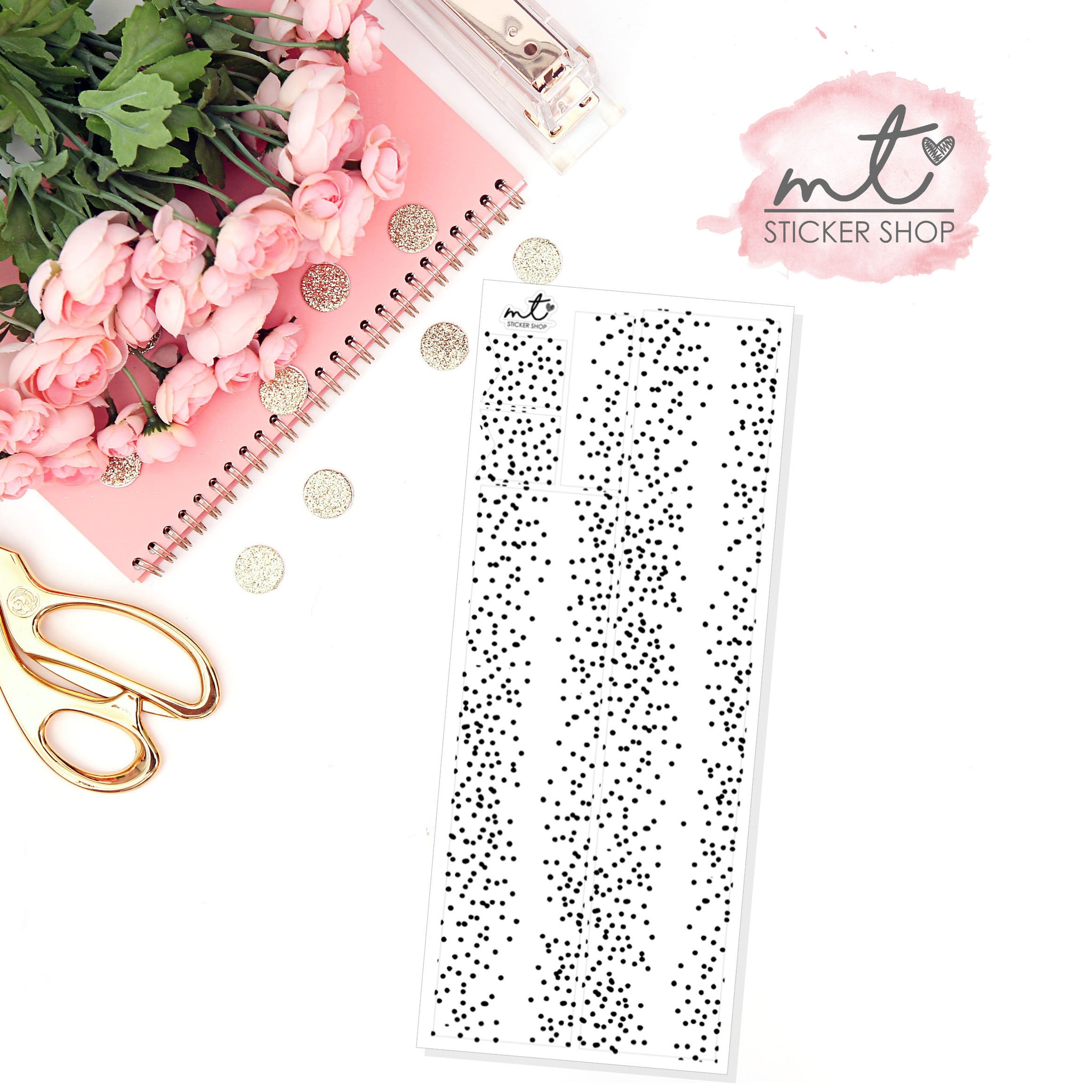 Confetti Dot FOIL Washi Overlay || Transparent